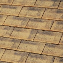 Rully interlocking shingle tile - Colour ( SABLE CHAMPAGNE )